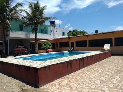chácara com 6 suítes, piscina, ampla, na praia de itanhaém