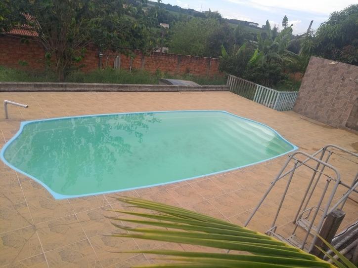 chacara com casa e piscina aceita troca - 858