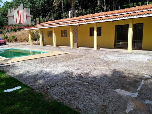 chácara com escritura, 02 dormitórios à venda, 3687 m² por r$ 320.000 - zona rural - pinhalzinho/sp - ch0095