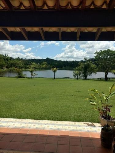 chácara com grande lago - condomínio rural - sousas - ch0081