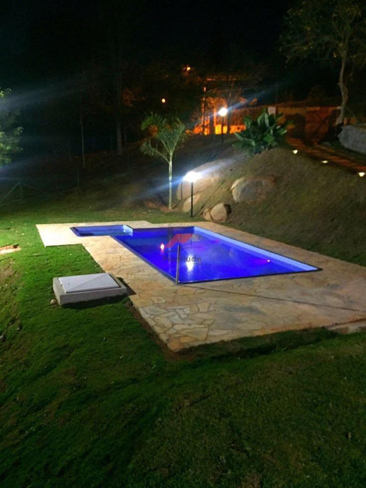 chácara com piscina em condomínio fechado! codigo 634