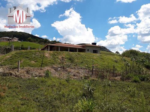 chácara com riacho, casa nova, 02 dormitórios à venda, 2200 m² por r$ 235.000 - pedra bela - pedra bela/sp - ch0360