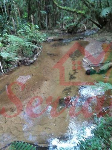 chácara com riacho de água cristalina