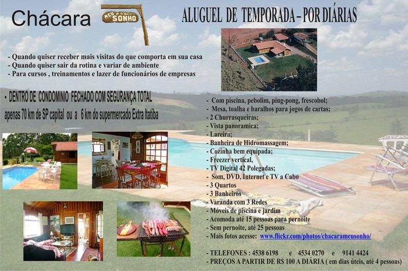 chácara condo fechado com piscina wifi churrasqueiras tv sky