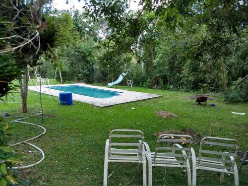chácara c/piscina/lagos/nascente/ac troca praia grande/04803