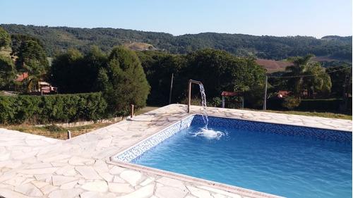 chácara em ibiúna condomínio fechado casa nova e piscina !!