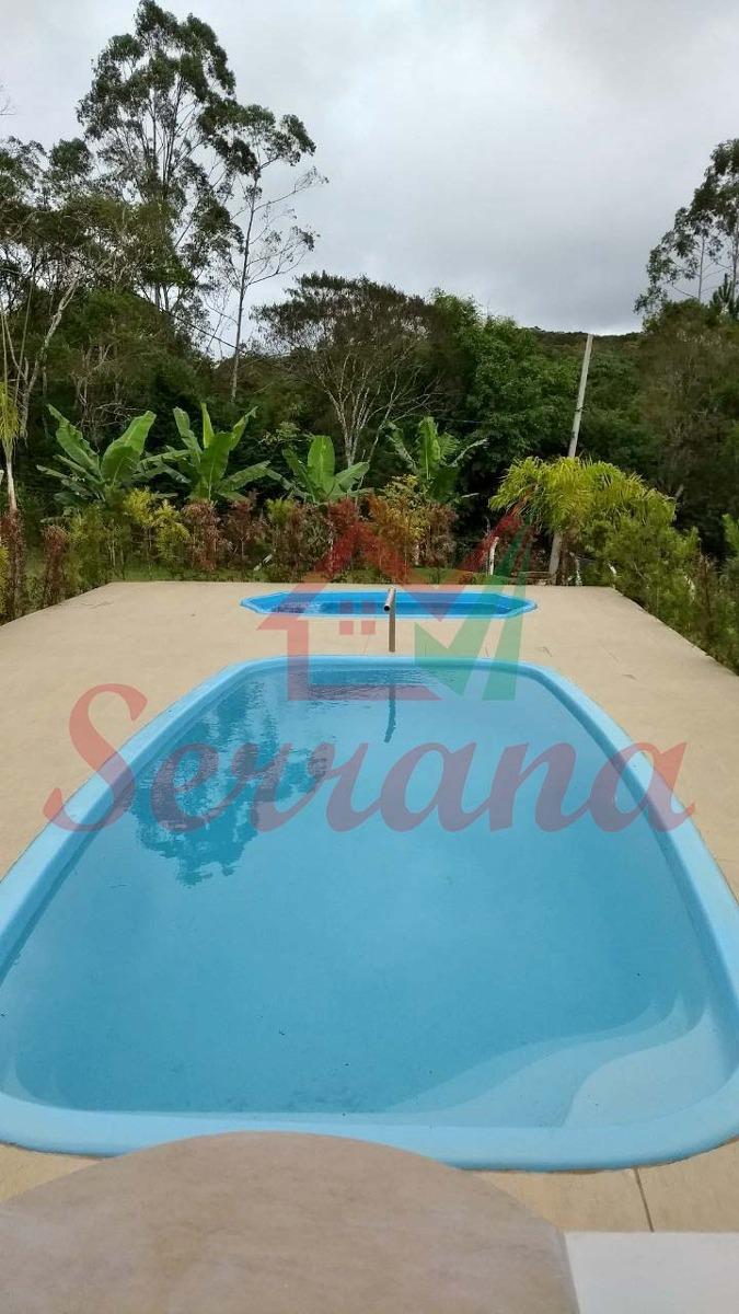 chácara em juquitiba área plaina com piscina e churrasqueira
