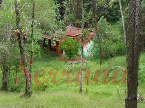chácara em juquitiba com lago e 2 casas