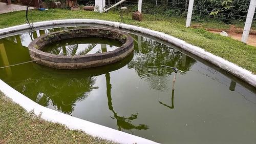 chácara em juquitiba com lago ornamental