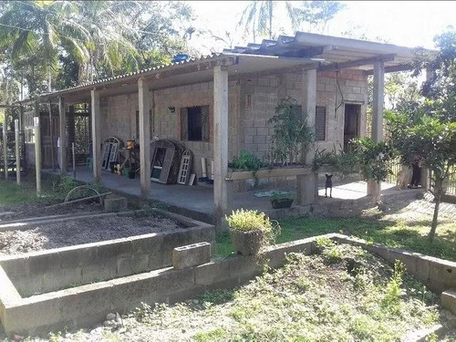 chácara escriturada na praia com casa, 2000m², local tranqui