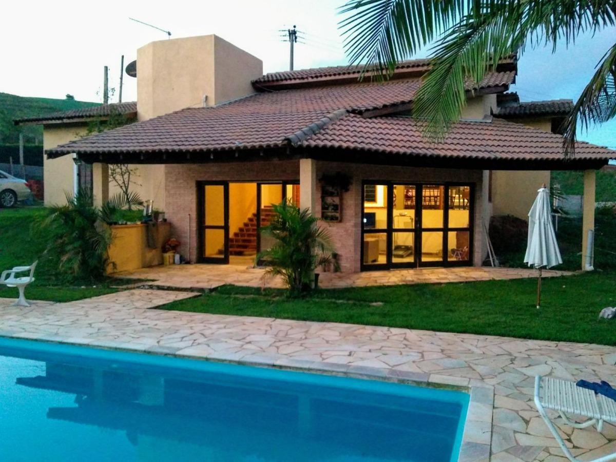 chácara ibiúna ampla casa, piscina, gramado próximo asfalto