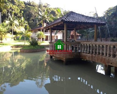 chácara juquitiba 9000m² 3dorm lago piscina baias  ref: 0108
