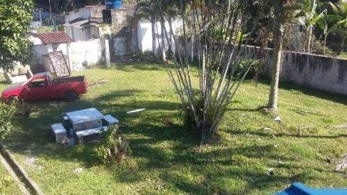 chácara murada e gramada no bairro são fernando, em itanhaém