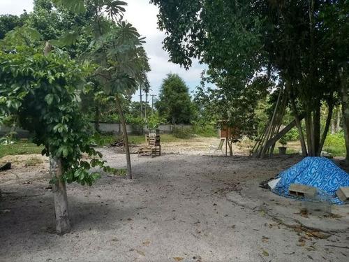 chácara na praia, murada e ampla, para parcelar!