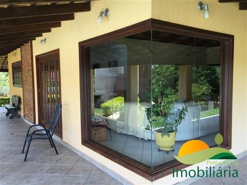 chácara no condomínio porta do sol com 2 piscinas e pomar - 114