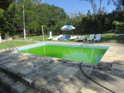 chácara plana/piscina/lago/permuta praia/osasco/ref.04703