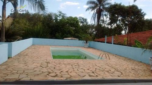 chácara residencial à venda, chácaras horizonte azul, mogi guaçu. - ch0050
