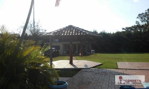 chácara residencial à venda, condomínio eco paraíso, vera cruz. - ch0015