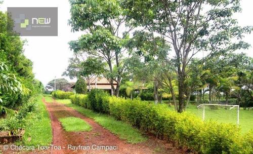 chácara  residencial à venda, zona rural, batatais. - ch0014