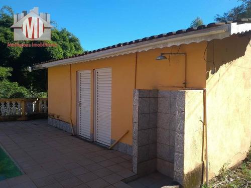 chácara rica em água com 03 dormitórios à venda, 25000 m² por r$ 370.000 - pedra bela/sp - ch0259