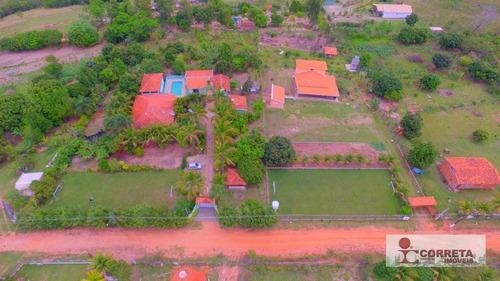 chácara rural para venda e locação, zona rural, marília. - ch0016