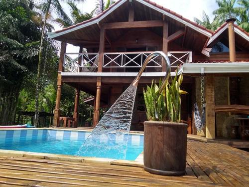 chácara temporada c/ piscina em camburi ao lado de maresias