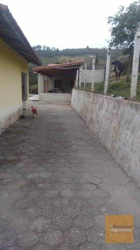 chácara à venda, 24200 m² por r$ 2.100.000 - rod. manuel de souza - santa branca/sp - ch0059