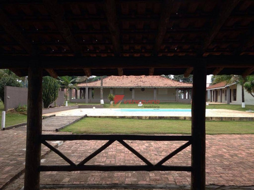 chácara à venda, 5000 m² por r$ 730.000,00 - zona rural - santa maria da serra/sp - ch0082