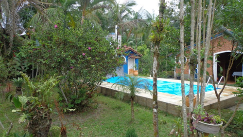 chácara à venda com piscina em itanhaém. ref. 335