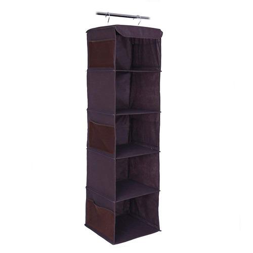 chacca 5- estante fodable armario colgante almacenamiento or