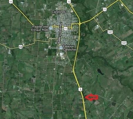 chacra de 3 has sobre ruta 5. a 2 km de canelones,30 min mvd