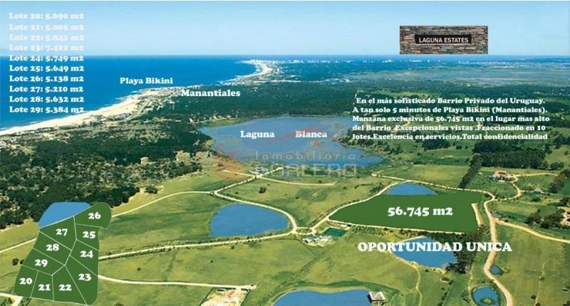 chacra en uruguay,  punta del este , manantiales, ruta 104- ref: 21397