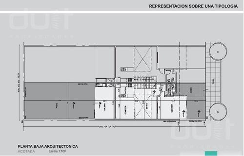 chacras del sur. duplex 175 m2. 3 dorm. 2 baños. 1 toilette.