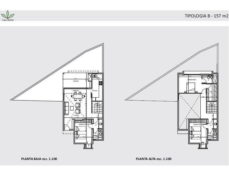 chacritas - housing 3 dormitorios