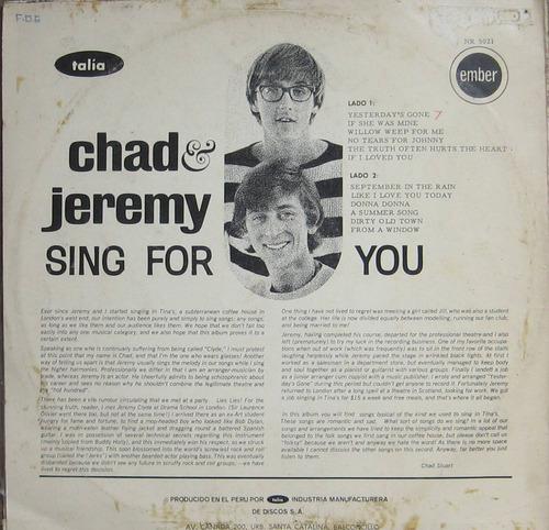 chad & jeremy,   sing for you, folk rock británico de los 60