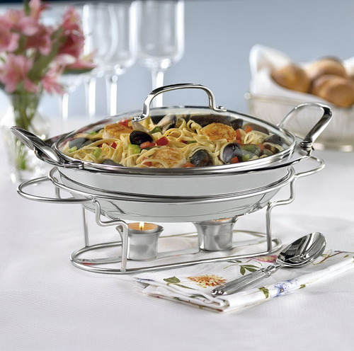 chafer buffet redonda acero inoxidable cuisinart 11 pulg
