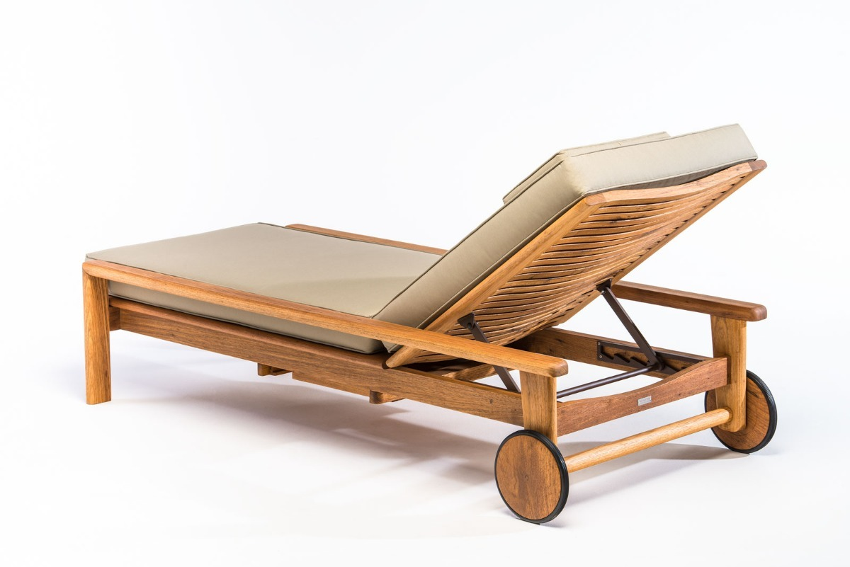 Chaise Long De Madeira Churrasqueira Sacada Deck Piscina - R$ 3.597 on