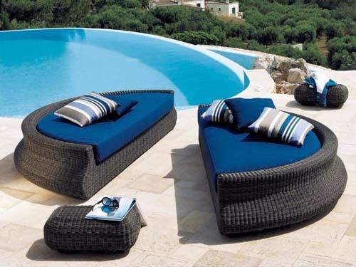 Chaise Sofa Redondo Para Piscina Area Externa Moveis ...