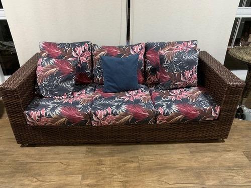 chaise/poltrona/cama 2,0 mt redonda aluminio rev em vime