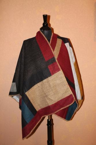 chal capa poncho de cashmere 100% ropa de frio elegante