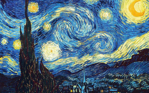 chal  la noche estrellada  de van gogh