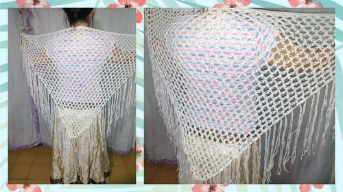 chal ruana chalina crochet regalos