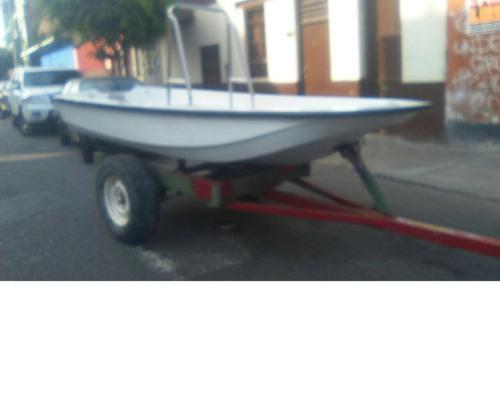 chalana tipo boston whaler, con o sin trailer