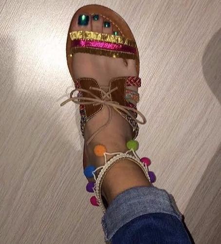 chalas sandalias de verano para mujer hechas en cuero