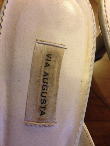 chalas sandalias marca via agusta 100 % cuero talla 36
