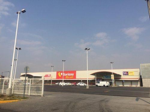 chalco zona industrial: terreno en renta en esquina con uso de suelo cu200a