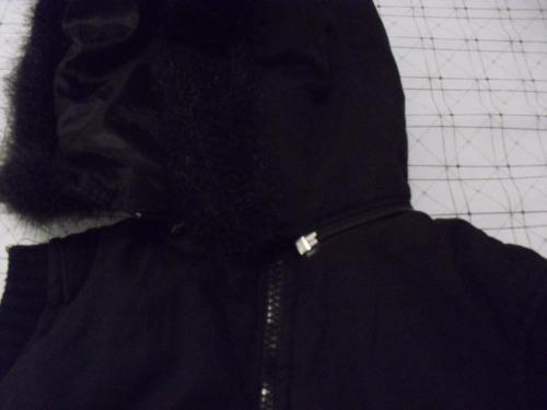 chaleco abrigado con capucha desmontable - talle s
