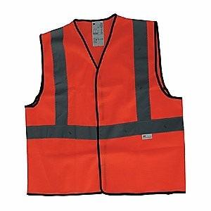 chaleco alta visibilidad rojo-naranja,malla 3m 2925ch 1 pz