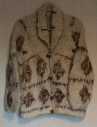 chaleco artesanal lana chilota tejido a mano