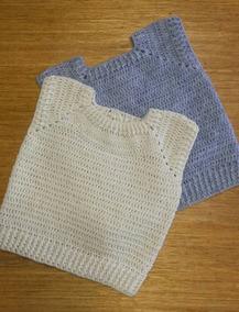 5e1bbf951 Chaleco Bebe Crochet Artesanal Tejido Sweter Sin Mangas